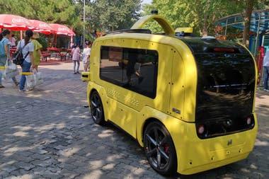 Un vehículo autónomo de reparto fabricado por Neolix