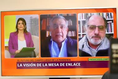 Carlos Iannizzotto y Jorge Chemes se sumaron de manera remota al panel moderado por Eleonora Cole (LN )