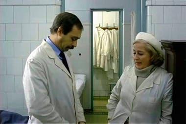 Brandoni y Zorrilla, en una escena de la película Darse cuenta, de Alejandro Doria