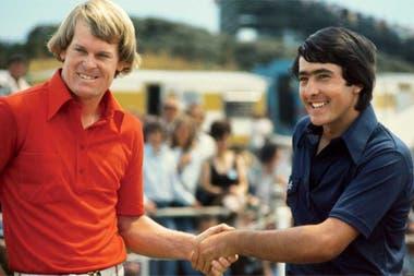 Johnny Miller, campeón en Royal Birkdale en 1976, junto con Seve