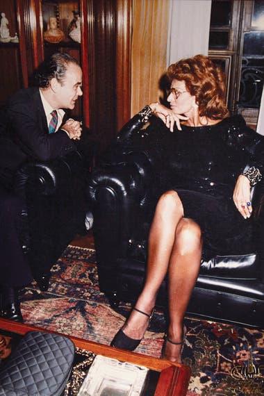 Con Sophia Loren, en uno de sus encuentros
