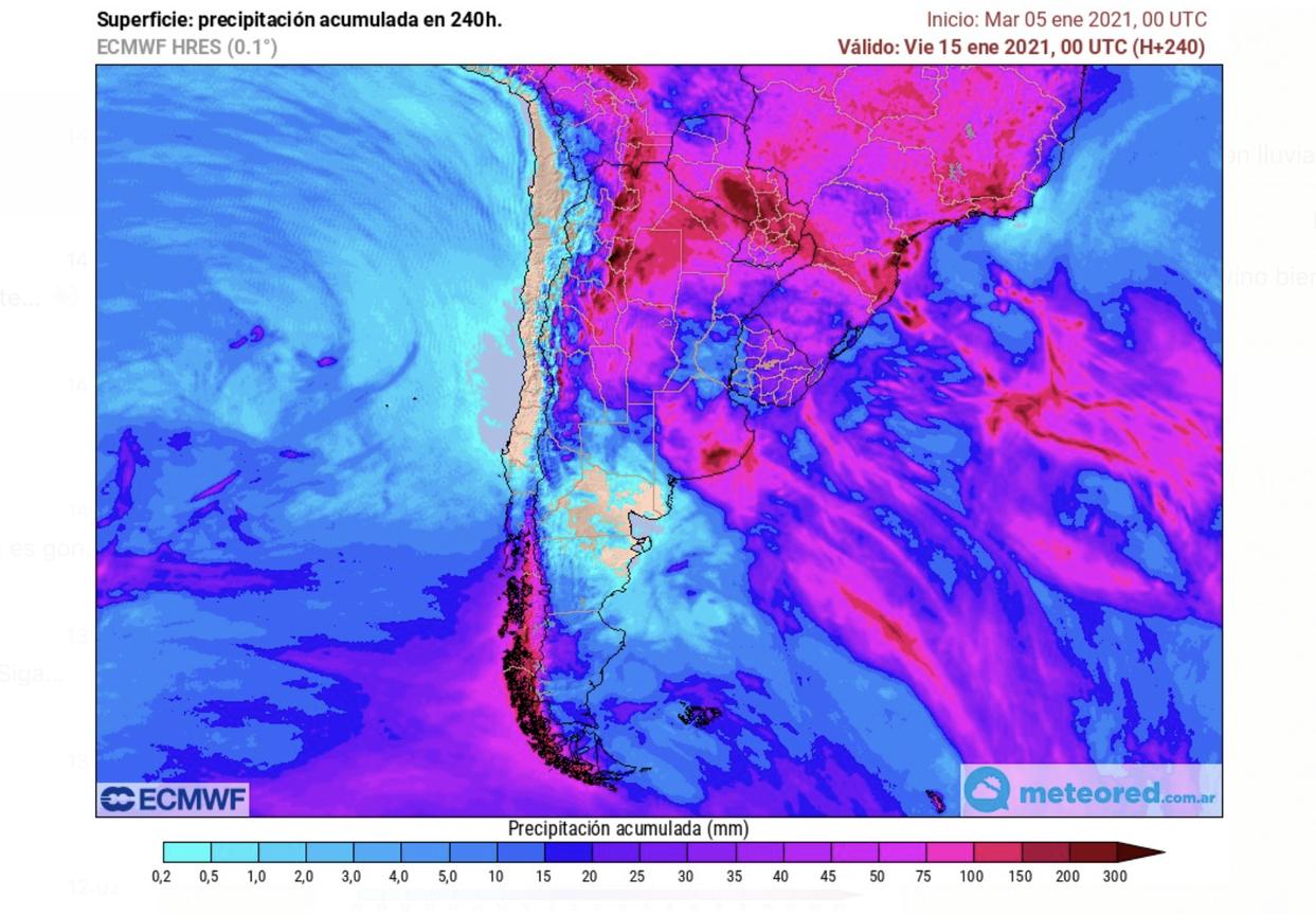 Se esperan lluvias para sectores del sur de Córdoba, sur de Santa Fe y oeste de Buenos Aires, que representan áreas importantes pero que no es la zona núcleo, que es donde se concentra buena parte del maíz temprano que está transitando etapas críticas