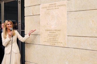 Ivanka Trump inauguró la embajada
