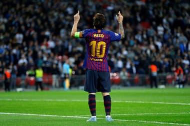 Leo Messi, el héroe en Wembley
