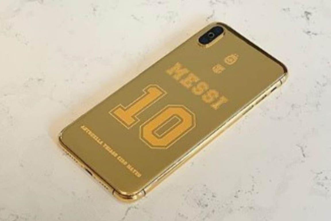 El modelo de celular personalizado para Messi