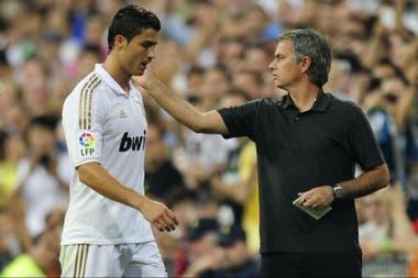 Mourinho dirigió a Cristiano durante tres temporadas en Real Madrid: de 2010 a 2013