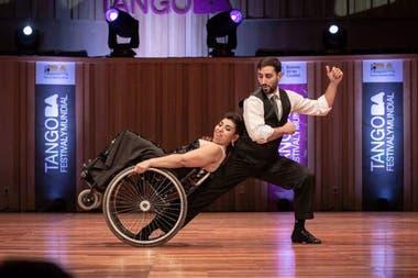 Gabriela Torres y Pablo Pereyra durante el Mundial de Tango en Buenos Aires.