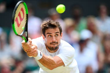Guido Pella, frente a Anderson en el court central