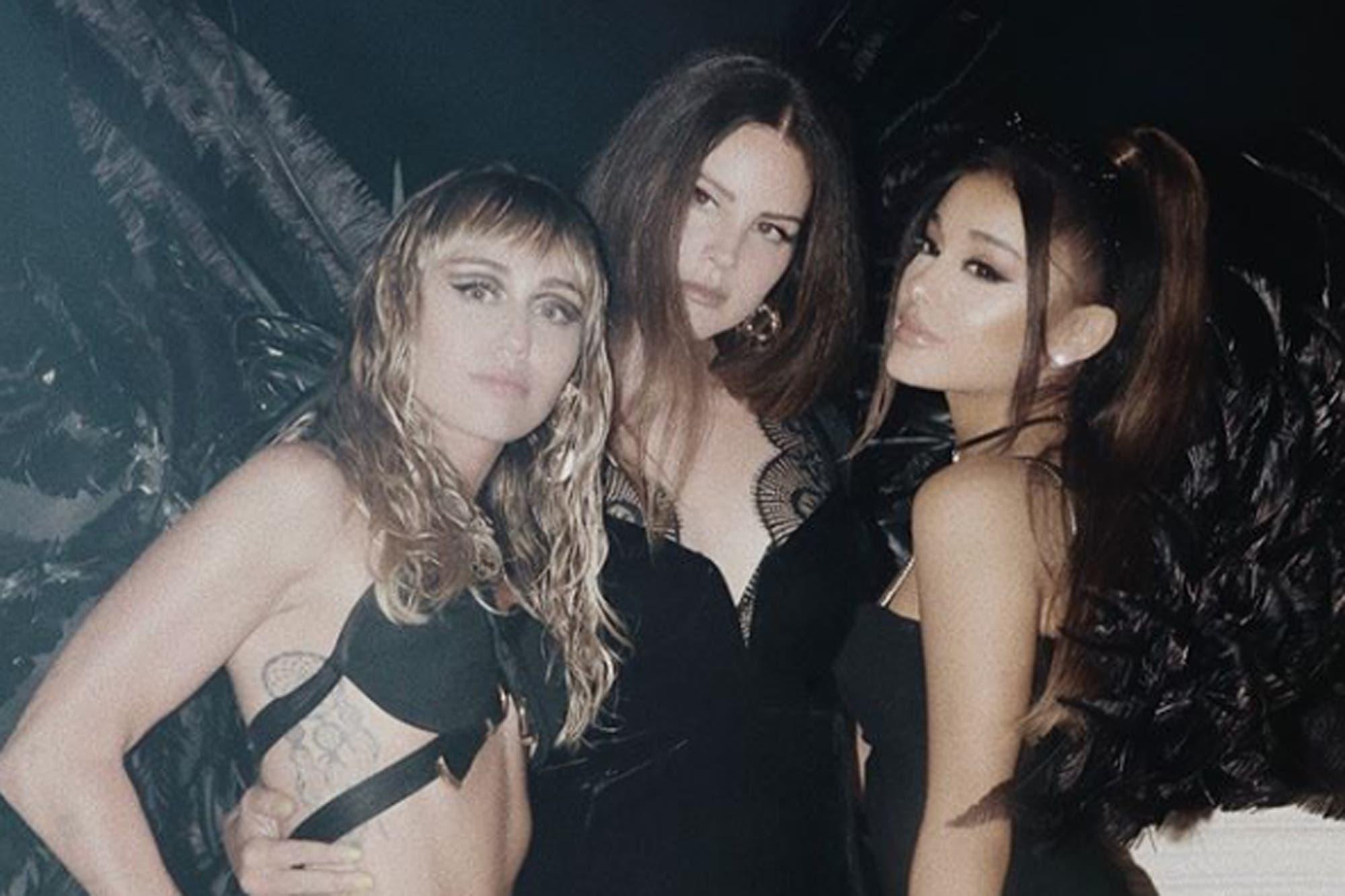 Ariana Grande, Miley Cyrus y Lana Del Rey, juntas en un videoclip al estilo Los Ángles de Charlie