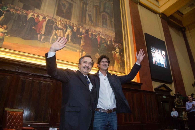 Alfonsín presentó el libro de Lousteau y pidió a los porteños que lo voten