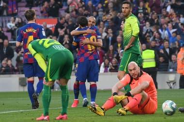 Dmitrovic, el arquero de Eibar, y una expresión elocuente: contra Messi no se puede