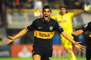 Nicolás Blandi tuvo pocas oportunidades en la primera de Boca