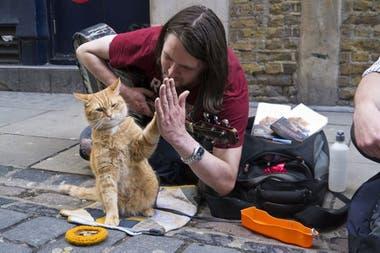 James Bowen y su gato Bob, se hicieron famosos: incluso Kate Middelton, la esposa del príncipe William, dijo presente en la alfombra roja de su película