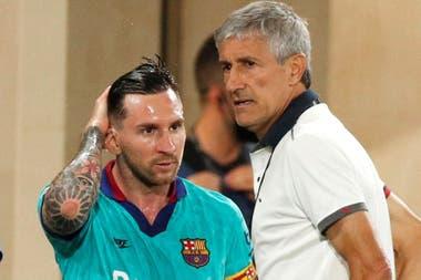 No es fluida la relación entre Lionel Messi y Quique Setién, que en Barcelona alcanzó la cúspide de su carrera, aunque por ahora sin logros.