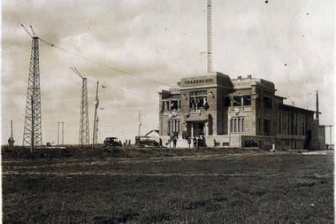 Inauguración de la Estación Radiotelegráfica en Monte Grande, en 1924