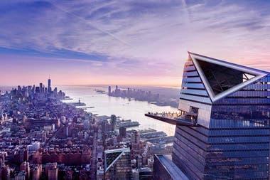 La impresionante vista desde el piso 100, sobre el río Hudson.