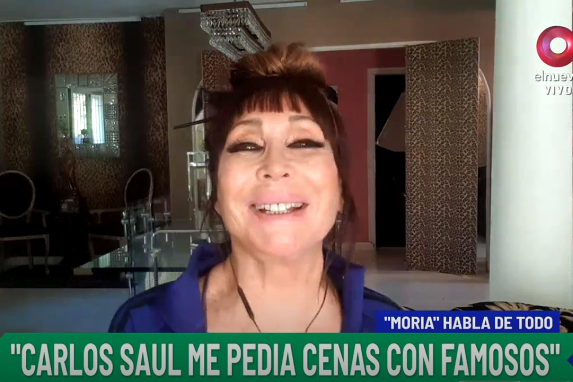 Moria Casán recordó las cenas que organizaba para Carlos Menem y quiénes eran los habitués