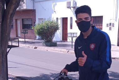 Nazareno Fullana ahora sale a andar en bici y le cambió el humor