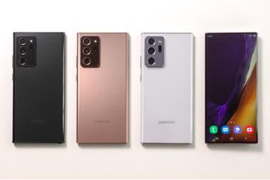 Los tres colores del Galaxy Note20 Ultra
