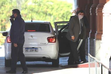 Claudio Moroni, al ingresar a la Casa Rosada