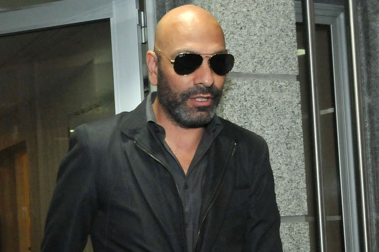 Fredy Villareal, de negro y lentes de sol, para despedir a su amigo