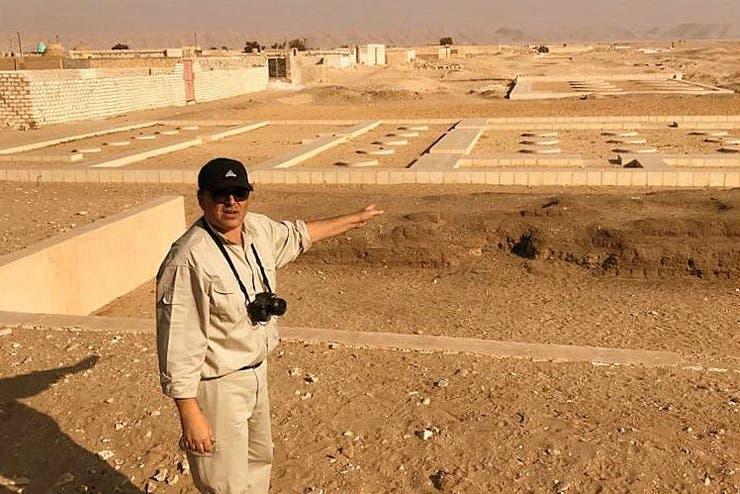 En el Templo de Atón, en Amarna, donde Friedrichs participa de la excavación que lidera el inglés Barry Kemp