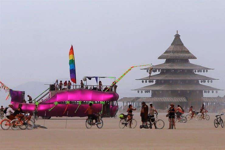 Una foto del festival Burning Man 2016