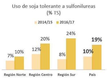 Uso de la soja tolerante a sulfonilureas
