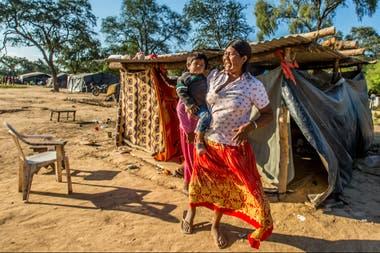 Los indígenas viven en condiciones precarias