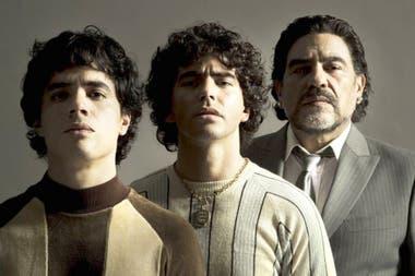 """Los actores que personificarán a Maradona en las distintas etapas de su vida en la serie en """"Sueño Bendito""""."""