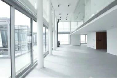 El penthouse de Núñez tiene amplios espacios