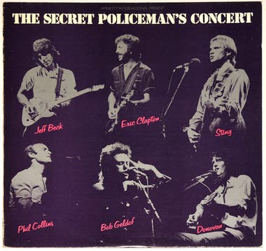 La portada del disco que se publicó con el concierto de 1981