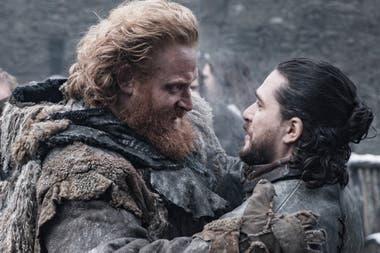 Tormund y Jon reunidos en Winterfell antes de la llegada del ejército de la noche