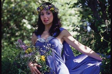 Gilda, en la foto que fue para la tapa del disco Corazón Valiente
