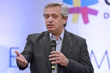 El presidente electo Alberto Fernández