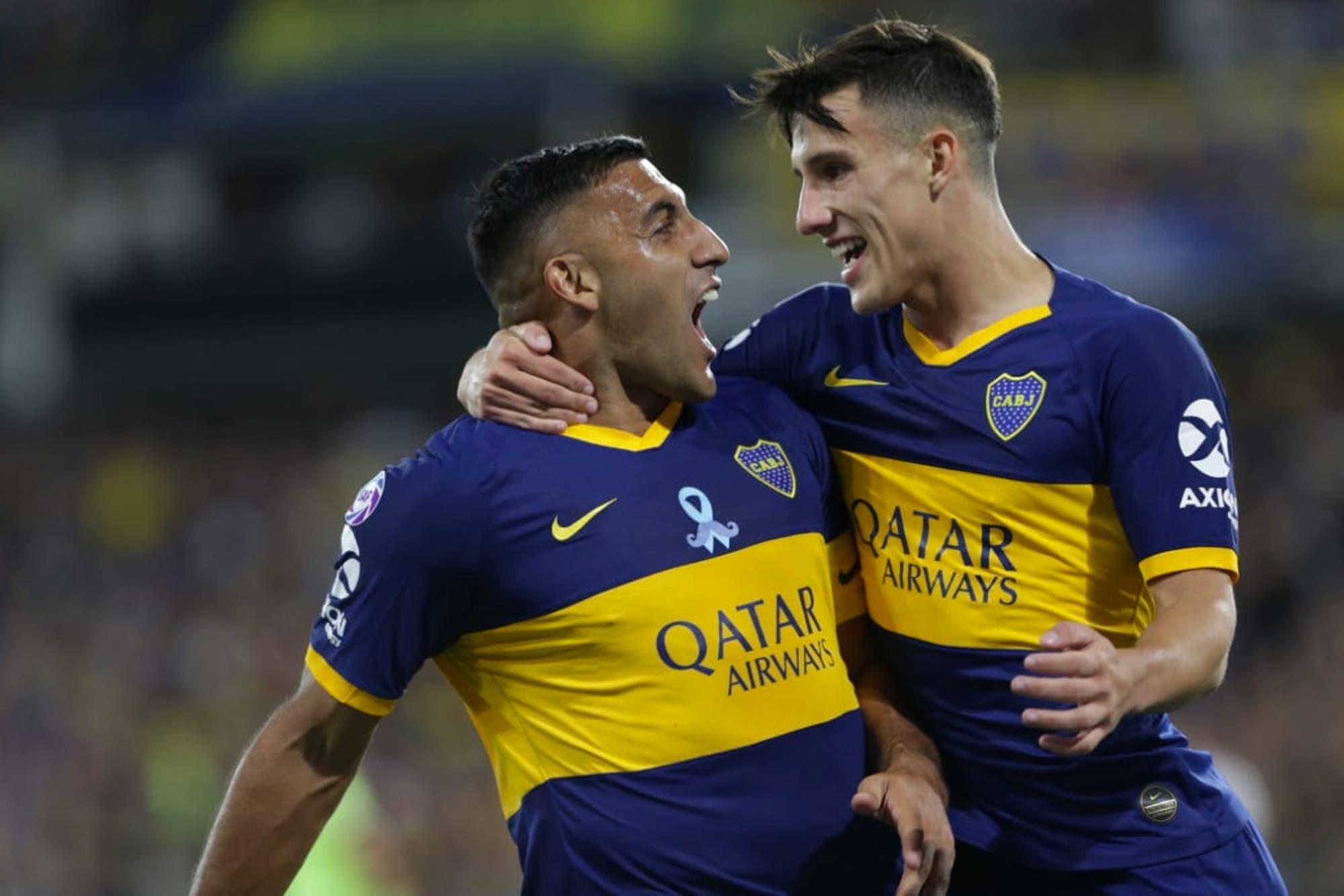 Boca-Argentinos, por la Superliga: un gol de Wanchope Ábila le da la ventaja al equipo de Alfaro