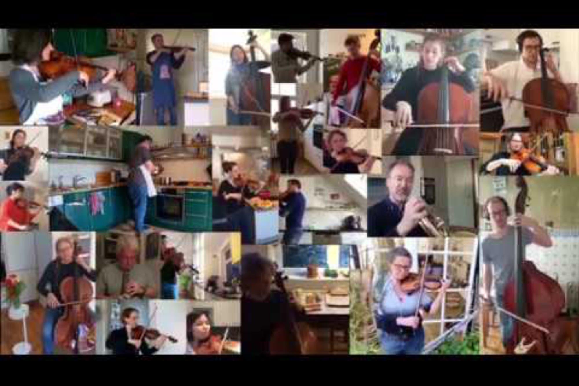 Coronavirus: cuando una orquesta completa cabe dentro de una cocina