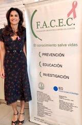43) Concientizar a la mujer en la prevención del cáncer de mama, una de las tareas que Sabatini tiene como embajadora de la Fundación FACEC.