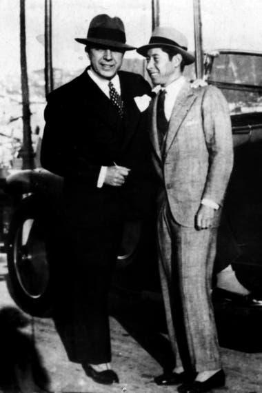 Carlos Gardel con Irineo Leguizamo