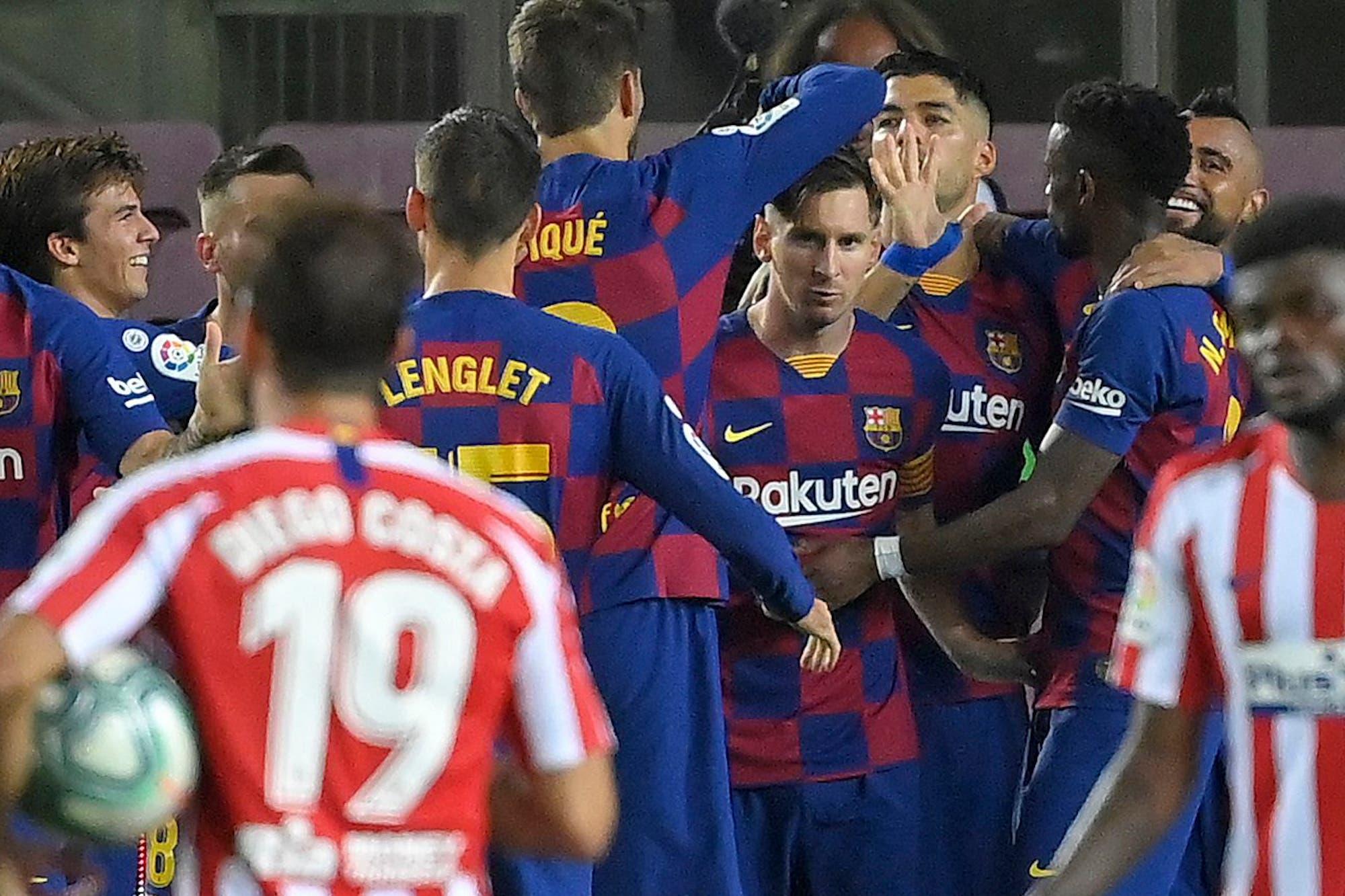 El lujo de Lionel Messi para gritar su gol 700 no alcanzó: Barcelona igualó con Atlético de Madrid y quedó a un punto del Real Madrid