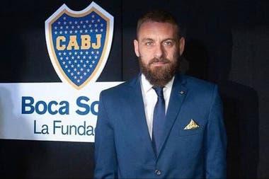 De Rossi y un recuerdo de Boca, en una cena benéfica