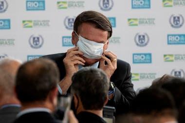 Bolsonaro se mostró feliz durante un evento público en Río de Janeiro