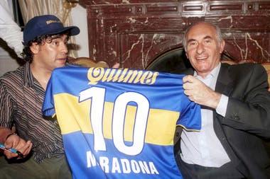 Una visita al ex presidente De la Rua en el año 2000
