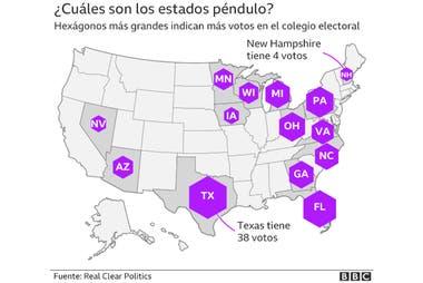Mapa de la elecciones