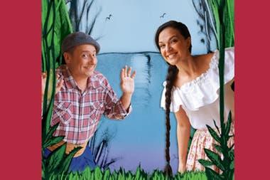 """""""Yatencontraré"""" es una de las obras disponibles en Teatrix, en la que Daniel Casablanca y Guadalupe Bervih narran un cuento con música en vivo y sombras de arena"""