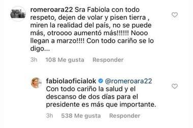 """""""Dejen de volar y pisen tierra"""" el pedido de una usuaria de Instagram a Yáñez"""
