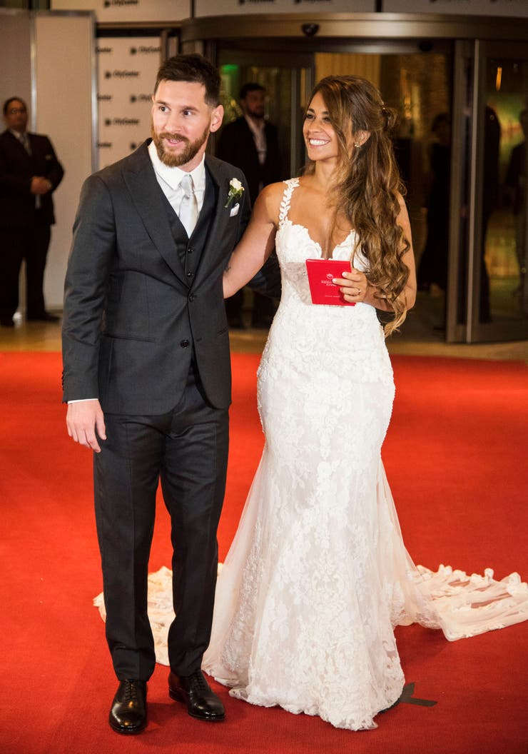 Messi y Roccuzzo