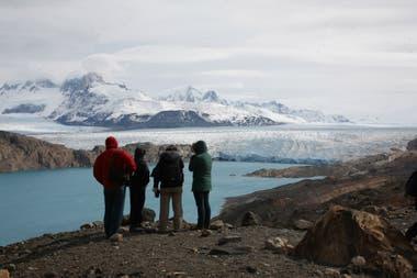 El glaciar Upsala, de 870 kilómetros cuadrados.