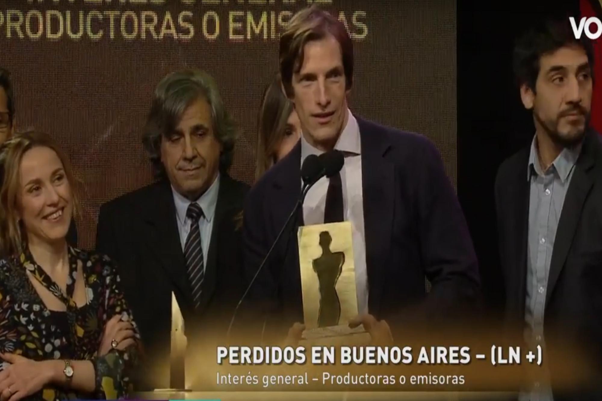 Premios Fund TV: LN+ fue reconocida por los ciclos Perdidos en Buenos Aires y Terapia de noticias