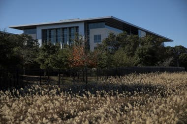 Una vista del campus de Apple en Austin, Texas